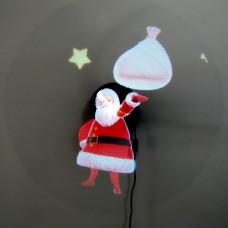 Голограмма для 3D вентилятора Санта Клаус