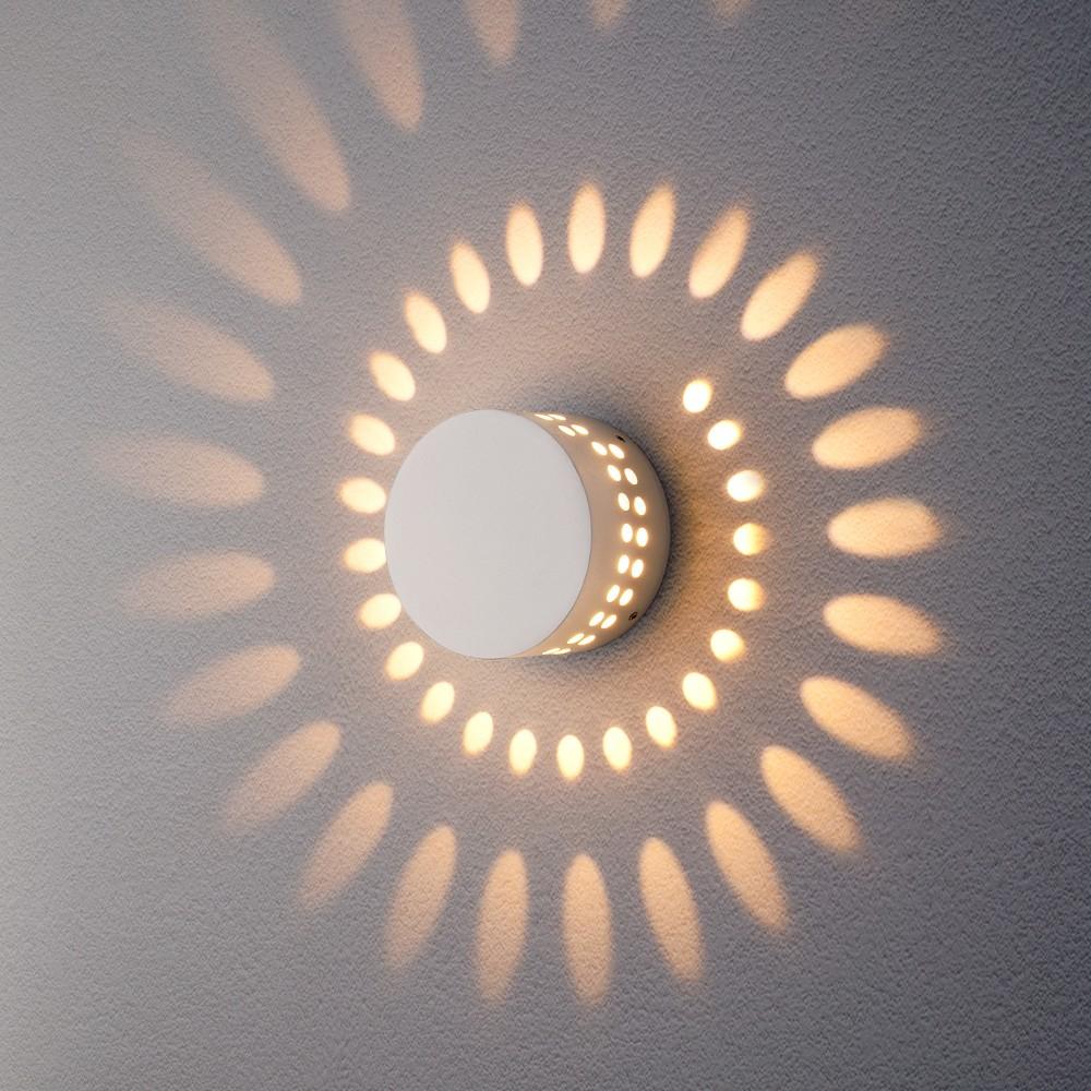 Arkada белый уличный настенный светодиодный светильник 1585 TECHNO LED
