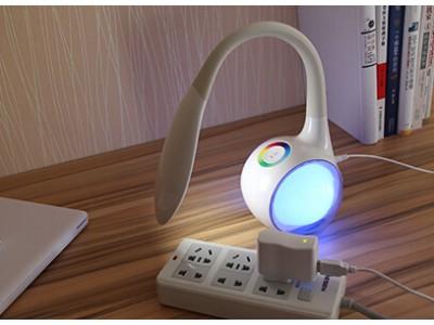 Видео обзор на настольный светильник ночник с RGB основанием KL019C