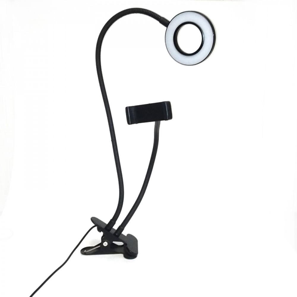 Кольцевая лампа с держателем для телефона