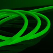 Набор гибкий неон LS003 220V 9.6W 144Led 2835 IP67 16mm круглый зеленый, 10 м